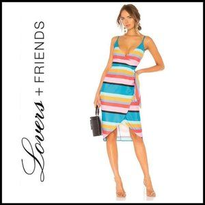 NWT LOVERS + FRIENDS Striped Orchid Dress, Size S